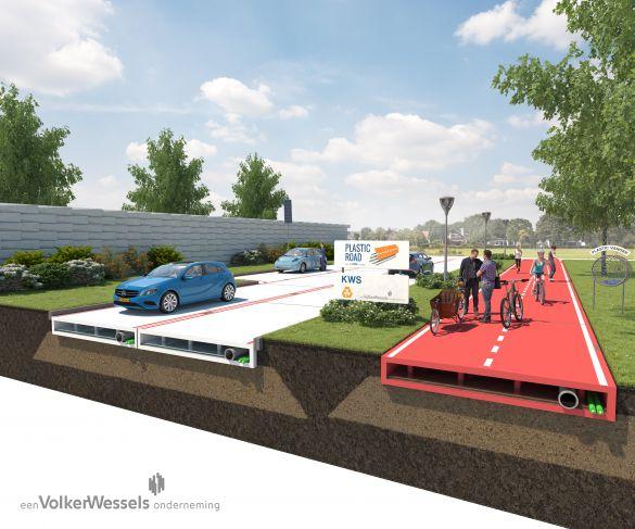 Пластик и полимер в строительстве дорог